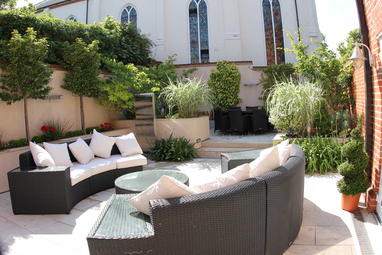 Chapel House patio