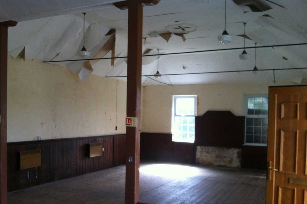 Ebenezer Chapel main room before renovation