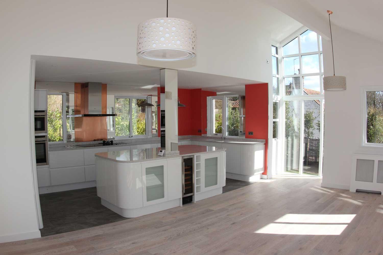 Vale House open plan kitchen