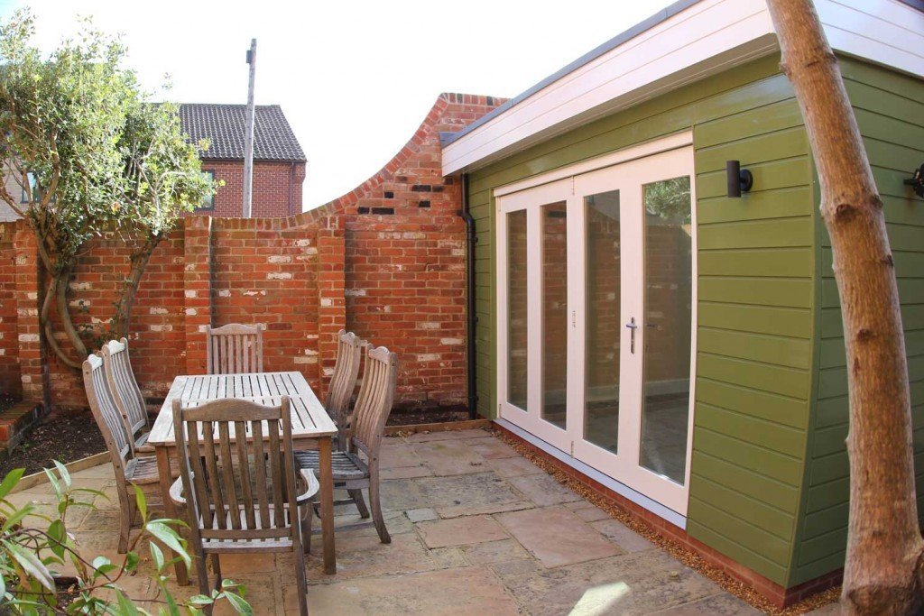 New garden wall and patio