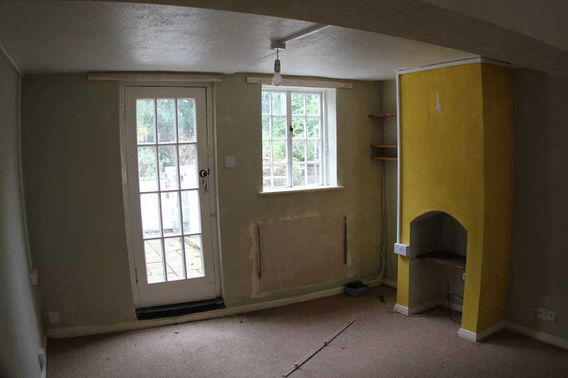 Inside before the renovation