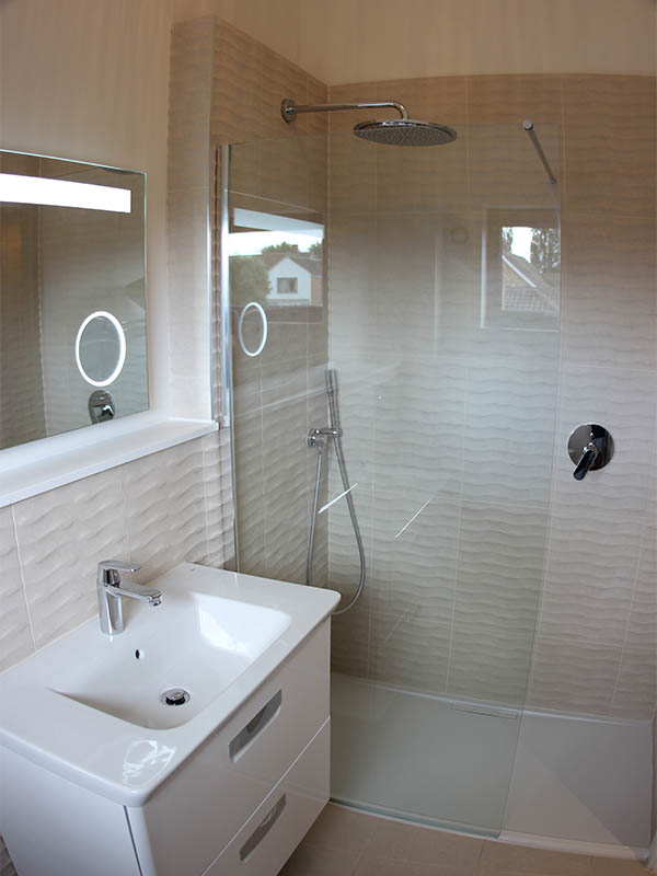 New bathroom with shower