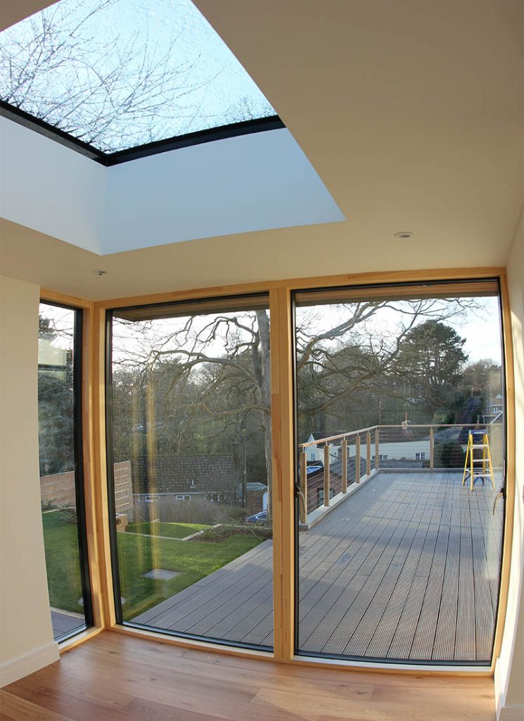 Woodbridge bespoke new build sliding glass doors
