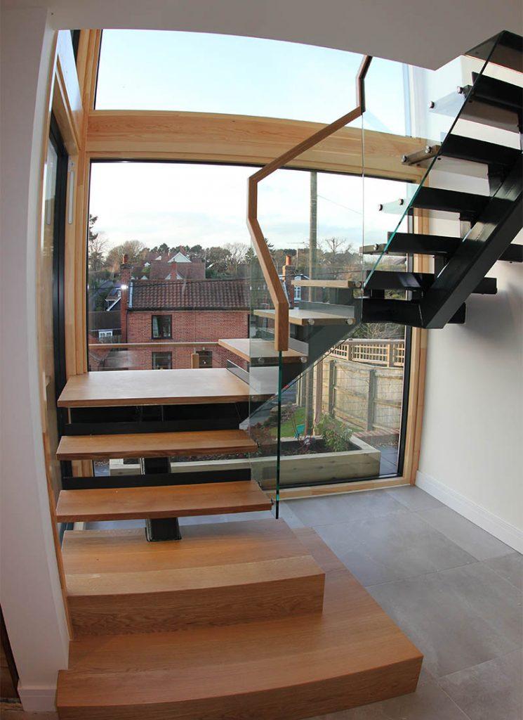 Woodbridge bespoke new build stairway