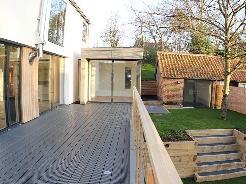 Woodbridge bespoke new build outside decking