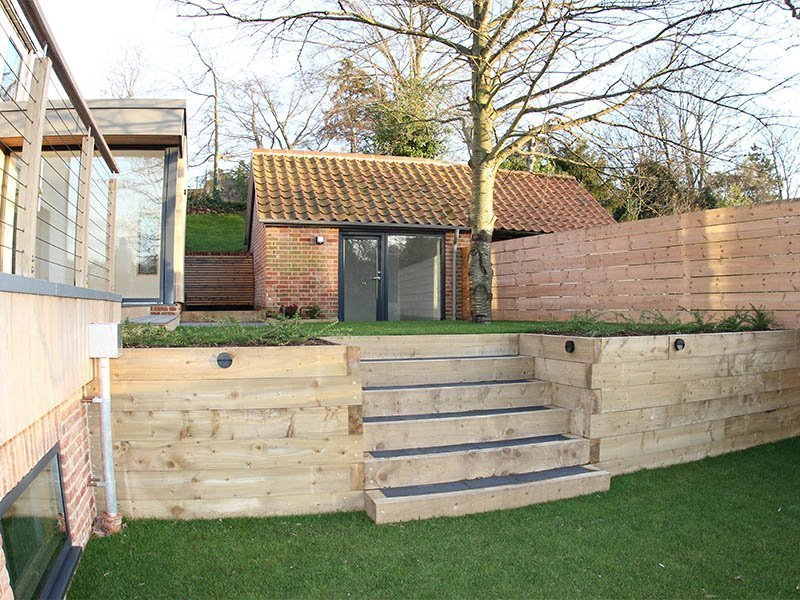 Woodbridge bespoke new build outside landscaping