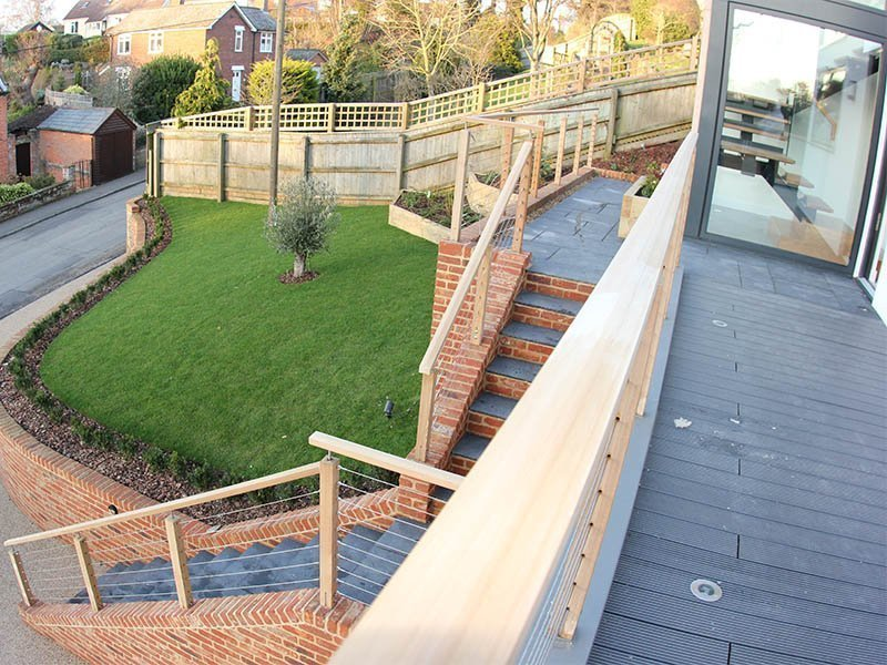 Woodbridge bespoke new build outside landscaping