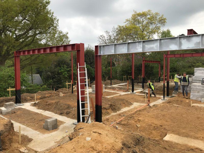 Constructing steel frames